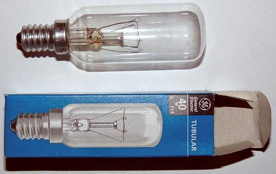 General Electric 40W light bulb.