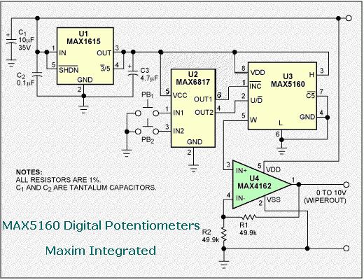 max5160-digital-potentiometers
