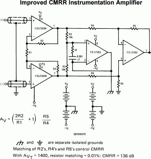 lf353-instrumentation-amplifier
