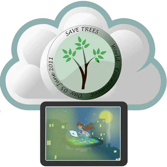 green-handheld-cloud-computing