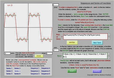 Sequences and Series of Functions Grapher