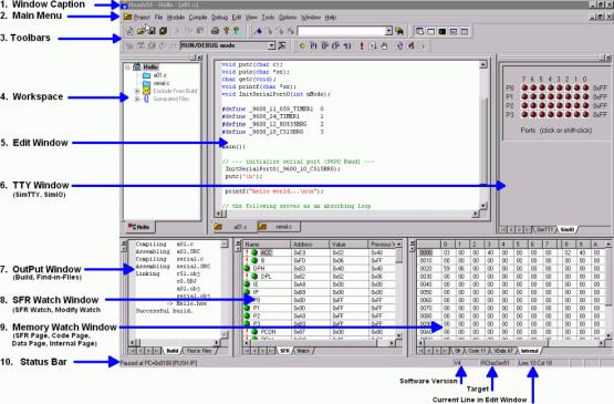 Reads51 - 8051 IDE C Compiler Assembler