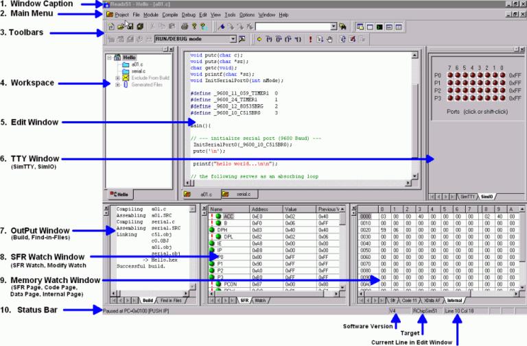 Reads51 – 8051 IDE C Compiler Assembler